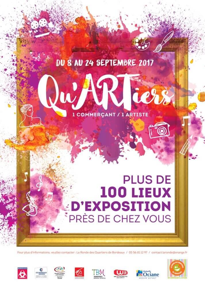 Exposition Qu'ARTiers à Bordeaux, du 8 au 24 septembre