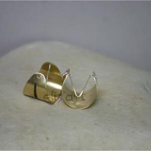 Boucles d'oreilles bohème en laiton gravé et argent par Elizart